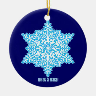 What A Flake Double-Sided Ceramic Round Christmas Ornament