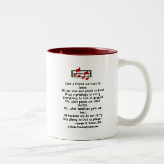 What a Friend we Have in Jesus Two-Tone Coffee Mug