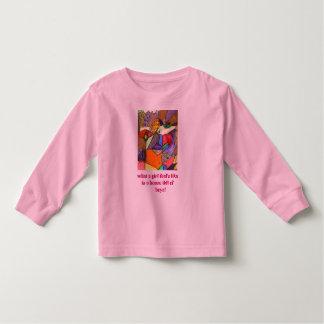 what a girl feel's like toddler t-shirt