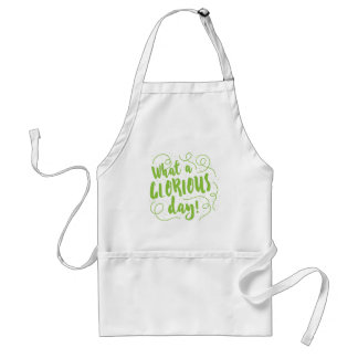 what a glorious day adult apron