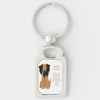 What a Great Dane is Fun Dog Quote Keychain