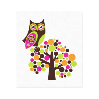 What a Hoot Wall Hanging Canvas Print