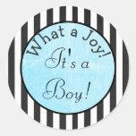 What a Joy! It's a boy,   Baby Shower Sticker
