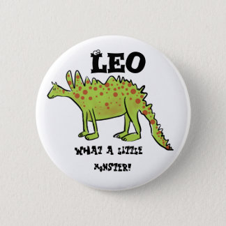 What a little monster! cartoon dinosaur (name) button