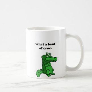 What A Load of Croc Alligator Crocodile Cartoon Coffee Mug