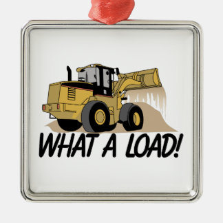 What A Load Square Metal Christmas Ornament