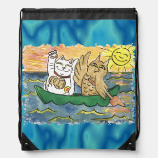 What a Lucky Voyage it Was! Drawstring Bags