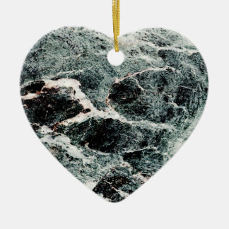 WHAT A MARBLE! ~ Double-Sided HEART CERAMIC CHRISTMAS ORNAMENT