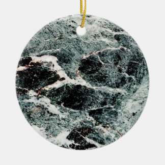 WHAT A MARBLE! ~ Double-Sided CERAMIC ROUND CHRISTMAS ORNAMENT