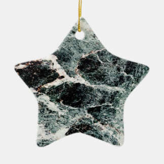 WHAT A MARBLE! ~ Double-Sided STAR CERAMIC CHRISTMAS ORNAMENT