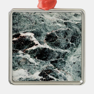 WHAT A MARBLE! ~ SQUARE METAL CHRISTMAS ORNAMENT