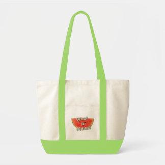 what a melon tote bag