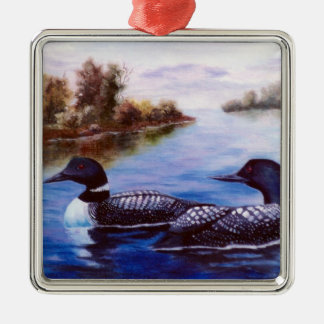 What A Pair Loon Metal Ornament