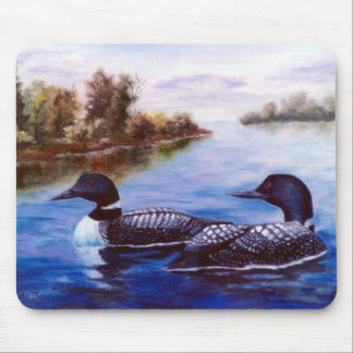 What A Pair Loon Mousepad