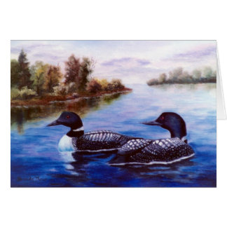 What A Pair Loon Notecard Stationery Note Card