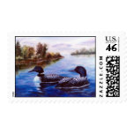 What A Pair Loon Postage Stamp