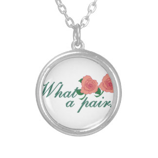 What A Pair! Round Pendant Necklace