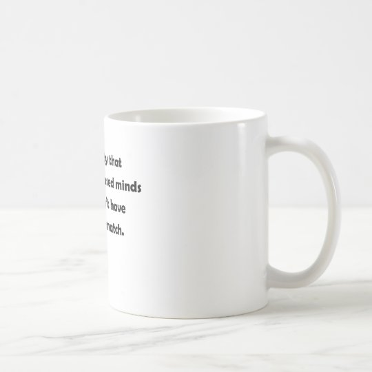 What a pity that people with closed minds coffee mug