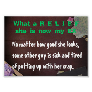 What a Relief, she is now my EX Poster