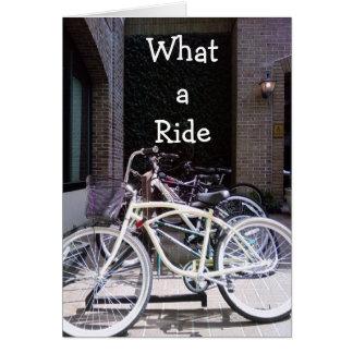 """WHAT A RIDE"" CONGRATULATIONS CARD"