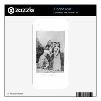 What a sacrifice! by Francisco Goya iPhone 4 Decals