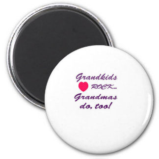 What a special bond between Grandma and Grandkids! 2 Inch Round Magnet