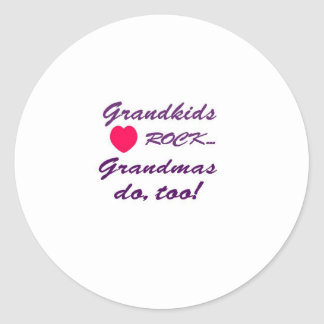 What a special bond between Grandma and Grandkids! Classic Round Sticker