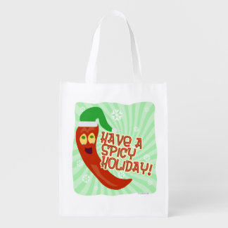 What A Spicy Holiday Reusable Grocery Bag