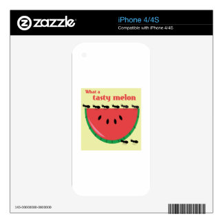 What A Tasty Melon Skins For iPhone 4