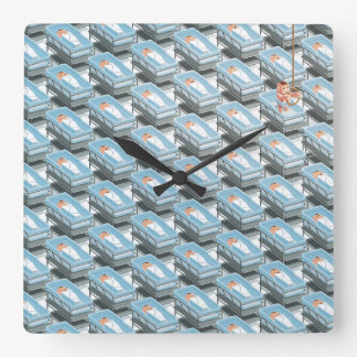 what a ugly world square wall clock