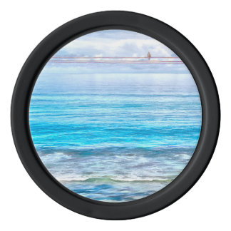 What a view of the ocean poker chips