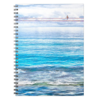 What a view of the ocean spiral notebook