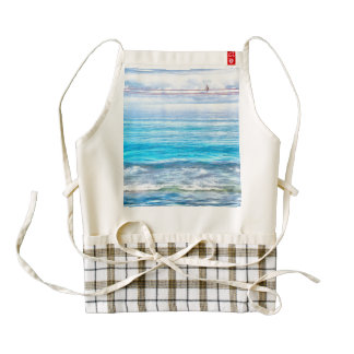 What a view of the ocean zazzle HEART apron