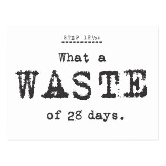 what a waste... postcard