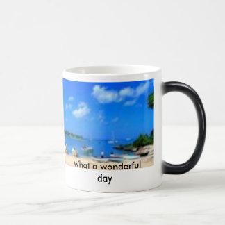 What a wonderful day magic mug