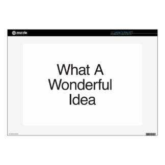 "What A Wonderful Idea 15"" Laptop Decal"