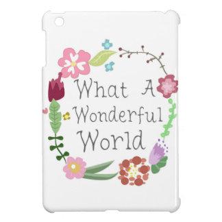 What A Wonderful World - Floral Wreath iPad Mini Covers