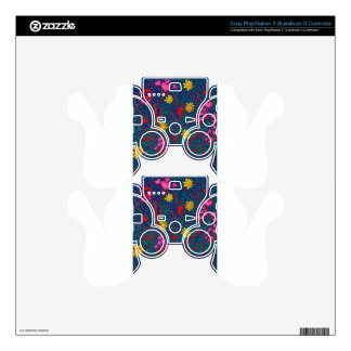 What a wondetrful swirled blue PS3 controller skins