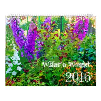 What a World 2016 Custom Printed Calendar