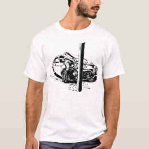 car outline t shirts t shirt design printing zazzle Old Chevy Cars what a wreck t shirt