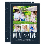 What A Year EDITABLE COLOR Holiday Photo Card<br><div class='desc'>Celebrate the season with this modern and stylish holiday card from Berry Berry Sweet. Matching items and more design options are available at our store: www.berryberrysweet.com.</div>