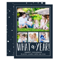 What A Year EDITABLE COLOR Holiday Photo Card