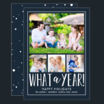 """What A Year EDITABLE COLOR Holiday Photo Card<br><div class=""""desc"""">Celebrate the season with this modern and stylish holiday card from Berry Berry Sweet. Matching items and more design options are available at our store: www.berryberrysweet.com.</div>"""