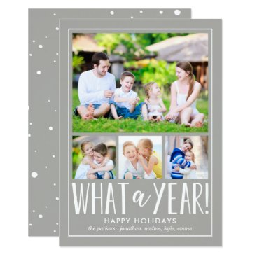 berryberrysweet What A Year EDITABLE COLOR Holiday Photo Card