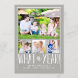 "What A Year EDITABLE COLOR Holiday Photo Card<br><div class=""desc"">Celebrate the season with this modern and stylish holiday card from Berry Berry Sweet. Matching items and more design options are available at our store: www.berryberrysweet.com.</div>"