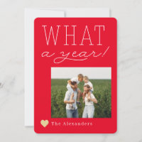 What A Year Holiday Photo Card