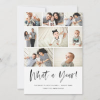What A Year Modern Family Photo Collage Review Holiday Card