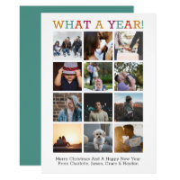 What A Year Photo Christmas Year In Review Card