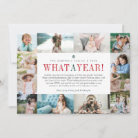 What a Year | Year in Review Photo Collage Holiday Card