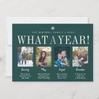 What a Year   Year in Review Photo Collage Holiday Card